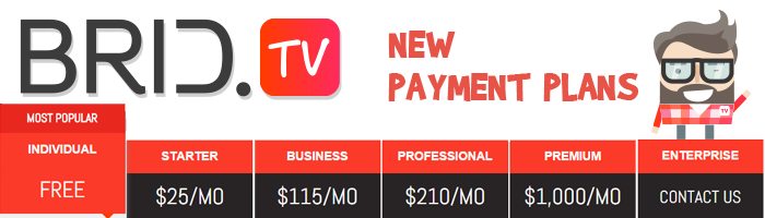 Unlimited Ad Calls And New Payment Plans - BRID TV