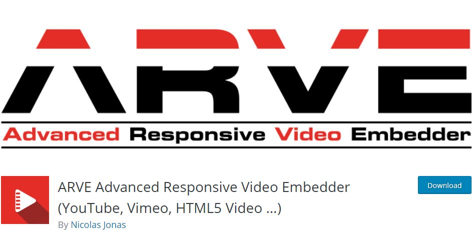 Arve WordPress Video Plugin