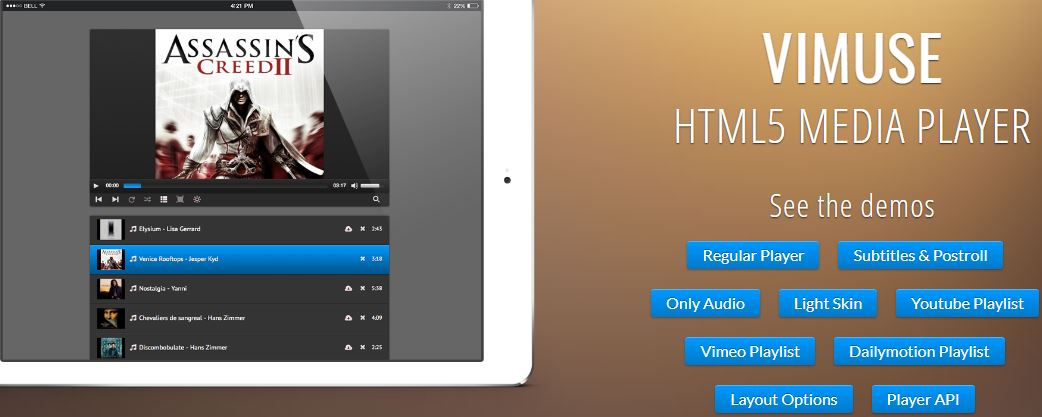 Vimuse - Media Player WordPress Plugin