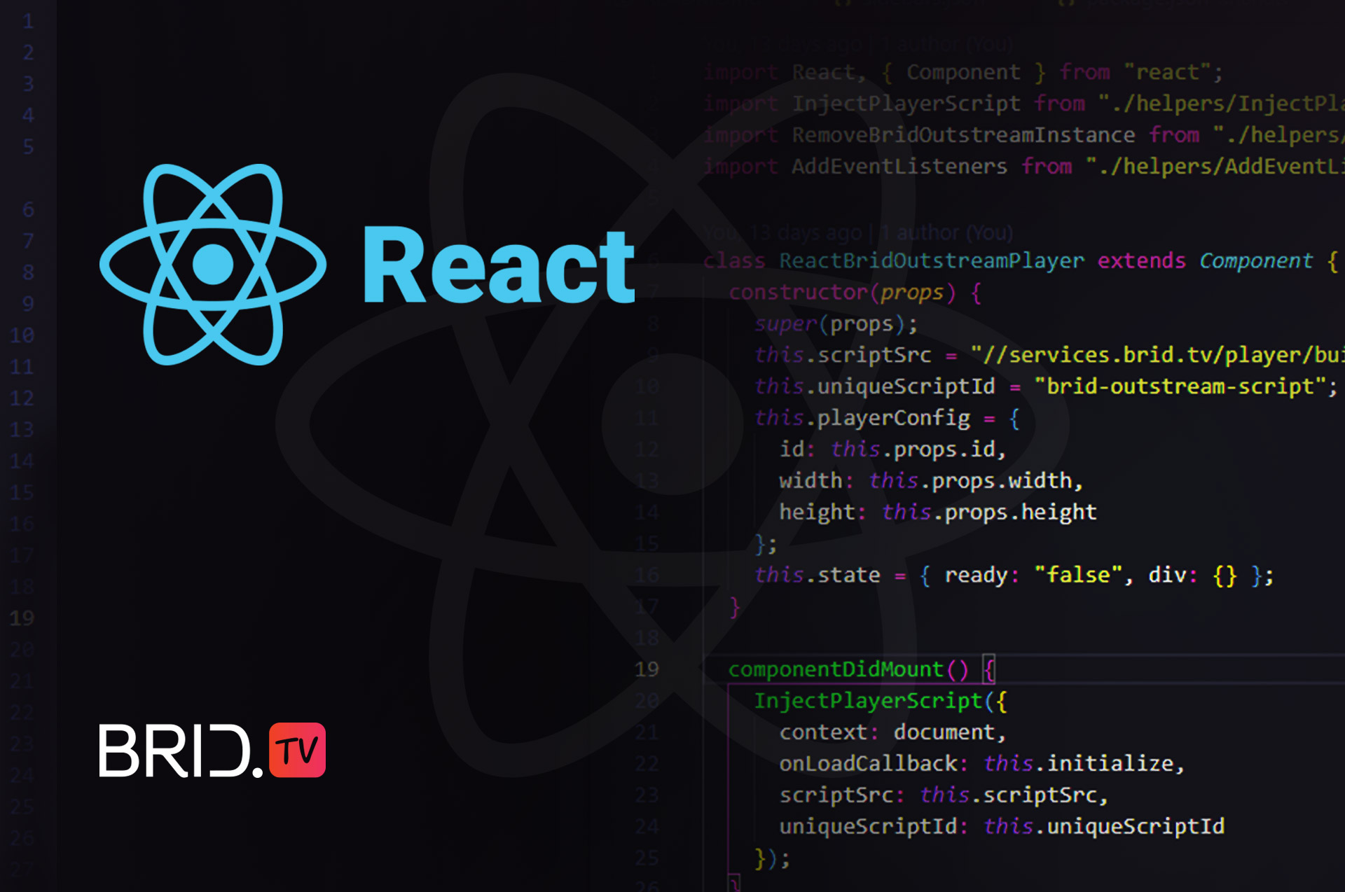 React brid player component